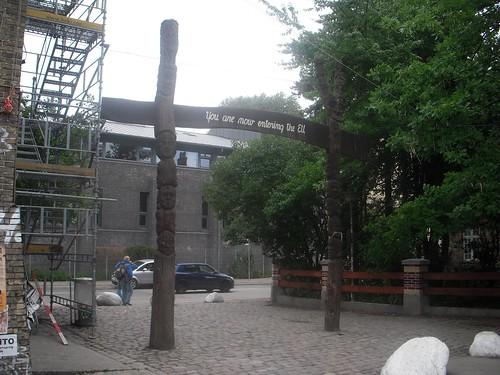 Exiting Christiania