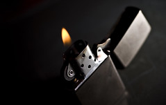 Light (DodogoeSLR) Tags: black macro dark fire nikon dof bokeh smoking flame micro heat lighter nikkor cigarettes flint zippo cigs humility snoot 60mmf28 macromonday strobistsunday