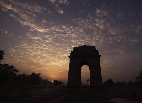 Sunrise at Indiagate