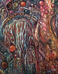 Underground (painting) and Mine (poem) (faith goble) Tags: color art painting mine artist acrylic poem photographer bluegrass earth stones kentucky ky faith roots vivid canvas creativecommons poet writer tacomaartmuseum bowlinggreenky goble firsthand bowllinggreen eyecandyart theunforgettablepictures colourartaward originalpoem goldstaraward faithgoble grafixer ccbyfaithgoble gographix poemforapainting faithgobleart thisisky