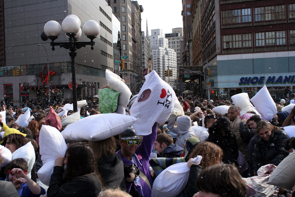 NYC Pillow Fight 2008
