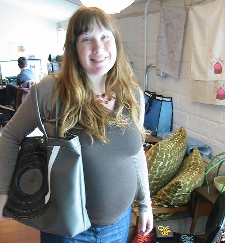 No baby yet, but I do have a diaper bag...