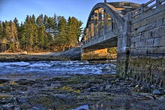 Falls Bridge HDR (madjbug&Astrid_Ari (away-busy)) Tags: ocean bridge sea maine addicted hdr saltwater downeast fallsbridge photomatix thegameofphotoassociation abigfave betterthangood