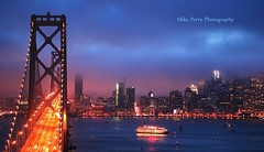 Twilight on San Francisco Bay (mrperry) Tags: sanfrancisco sunset fog night baybridge yerbabuenaisland oaklandbaybridge sanfranciscofog sanfranciscobelle