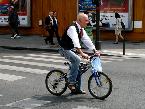 Vélo Hommes - Cycling Chaps in Paris
