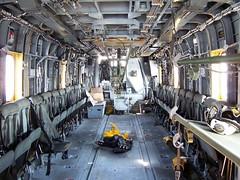 Helicopter inside (ty law) Tags: ocean newyorkcity pier boat ship navy helicopter marines battleship lhd3 usskearsarge fleetweek2008 amphibiousassaultcraft