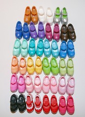 My MJs collection (cybermelli) Tags: rainbow shoes doll mary barbie blythe maryjanes janes
