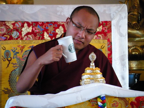 The karmapa and his Coffee
