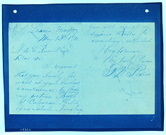Untitled (Smithsonian Institution) Tags: blue ink handwriting mail postcard letter penmanship handwritten cursive correspondence cyanotype smithsonianinstitution may13th1912 wdecravenel gwpeters battleofcaloocanpainting smithsonianinstitutionarchives