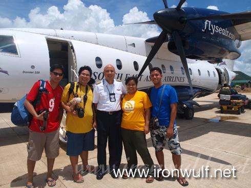 With Seair Pilot Captian