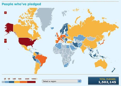 Firefox 3: Participez au record du monde de téléchargement: picture Firefox 3 download day: passing the 1.5 million pledges by nitot