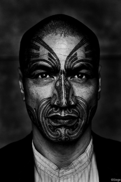 Maori Facial Tattoo Serpentine was traditionally used by the Maori to carve