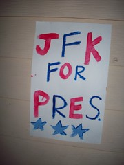 Poster (legogrrl4) Tags: birthday family blue red party music white sign 60s graduation tie jfk dye sixties