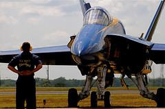 F/A-18 Hornet (William A. Franklin) Tags: people airport nikon flickr huntsville aircraft military alabama navy airshow gps blueangels geotag hsv fa18 d300 18200mm nikond300 solmeta huntsvilleinternational
