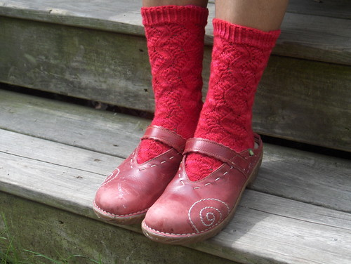 Red Spring Forward Socks