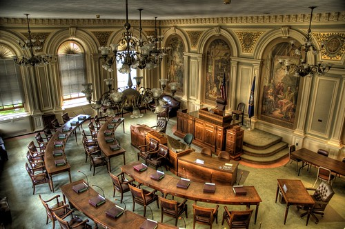 New Hampshire Statehouse Senate Chamber