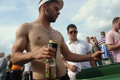 Our beer and cider man - three (CharlesFred) Tags: shirtless man male favourites alpha myfavourites epsom beautifulman thederby sexyman alphamale epsomdowns twohundred derby2008 mooieman twohundredfavourites