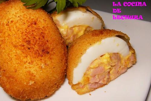 Huevos rebozados-cerca