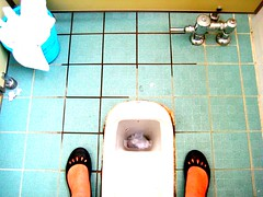 10:365 Squat and smile with a croc (odile) (...what my soul sees...) Tags: blue feet flickr turquoise korea southkorea puddles picnik longing squattoilet hanguk fgr gimhae 365days asianstyle kyungwoon