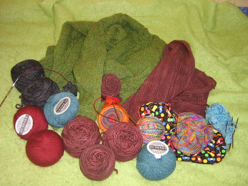 yarn stash on camp!