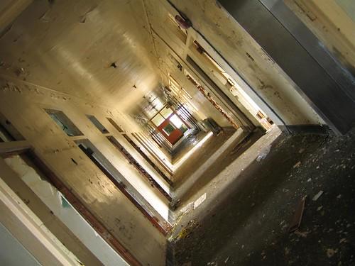 Psycho hospital hallway view