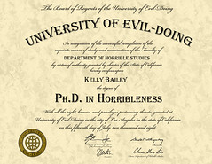 Ph.D. in Horribleness (KellBailey) Tags: pix diploma pics pic mutant phd joss enemy whedon horribleness drhorrible universityofevildoing clusterclick