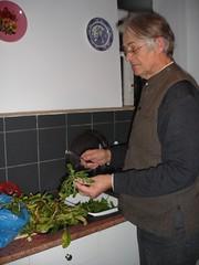 Preparing horta brought round by our neighbour in Ano Korakiana (Sibad) Tags: kitchen greece neighbour corfu kerkyra amaranth katerina horta greekfood purslane wildweeds anokorakiana simonbaddeley χόρτο washingvegetables 208democracystreet renasalaman vrouves χόρταβραστά moskalahánu prikalíthá zaxhouliá zágouna