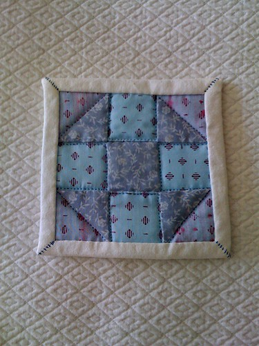 First quilted project