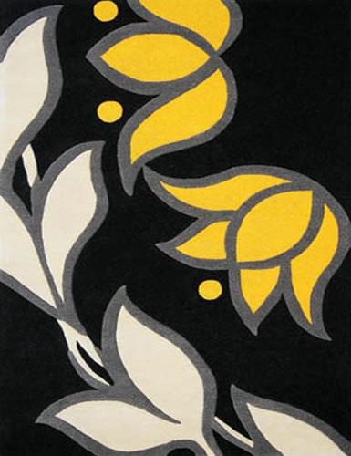 Domestic Modern Modern floral rug