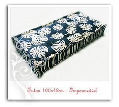Tropical Azul Marinho (barbelote) Tags: futon almofada tecidos almofadas futons impermevel zabutons