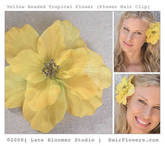 Tropical_Flower_Hair_Clip (hairflowers.com) Tags: wedding vacation orchid flower beach rose hair honeymoon silk clip tropical bridal gardenia flowerhairclip flowerforhair bridalflowerhairclip weddingflowerhair gardeniaflowerforhair