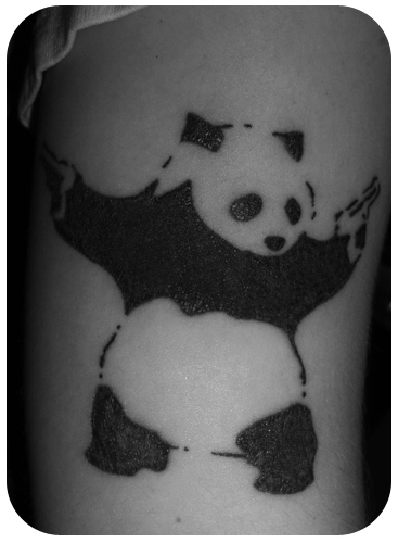Panda With Guns tattoo. Ellll oh elll.