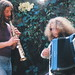 Marc Baum soprano sax, Jon Hammond Giulietti electric Accordion 1971 Topanga Canyon wedding