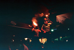 Playing with fire (dkilim) Tags: fire rangefinder greece scanned thessaloniki konica manual juggling c35