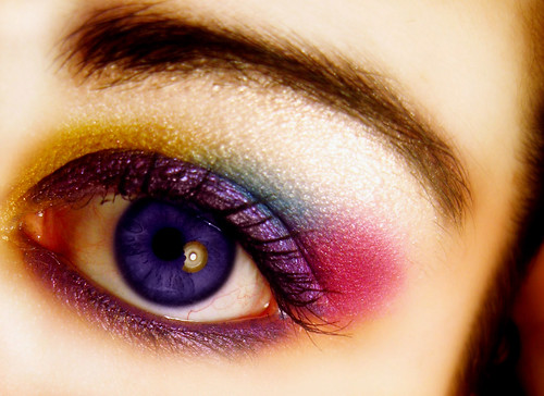 Red blue Colorful eye shadow pictures