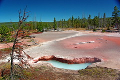 Artists Paintpots trail - Yellowstone National Park (Al_HikesAZ) Tags: pool nationalpark paint artist mud hiking pastel hike explore pots trail caldera artists backcountry yellowstone wyoming geothermal hotsprings wy paintpots artistspaintpots awesomenature unature alhikesaz