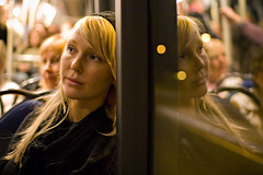 Laura on a night bus (L.Mikonranta) Tags: bus girl night canon eos helsinki 14 sigma sigma30mmf14dc explore lm iso1600 highiso copyright© 30mm 3014 40d canoneos40d copyright©lm