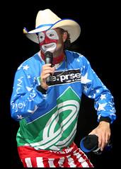 (.emily.) Tags: black smiling nashville tennessee candid clown pbr professionalbullriders flintrasmussen