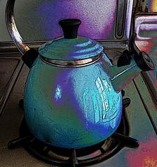 blue kettle (msdonnalee) Tags: blue azul photomanipulation poster blu turquoise  gimp bleu pot kettle stove blau posterized kessel hss chaleira  bouilloire bollitore gasrange czajnik hervidor   colourartaward artlegacy    photosbydonnacleveland blaubleuazzurroazul