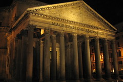 Pantheon Rome (Mike G. K.) Tags: old italy rome roma history church architecture night temple lights italia catholic columns pantheon mywinners  mikegk:gettyimages=invited