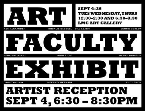 faculty art show 2008