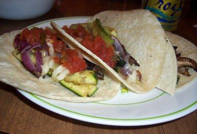 Mushroom and Zucchini Tacos