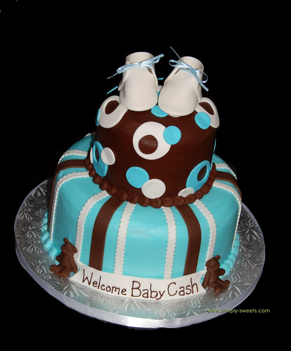 baby shower cake designs for boys. This 2 tiered aby shower cake