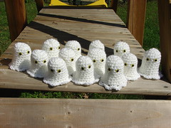 Ghosts for baby shower favors