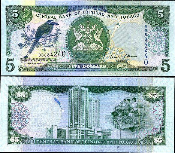 Trinidad & Tobago 5 dollars Banknote 2006