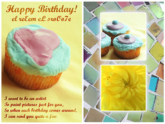 ~   I'M thE BiRthDaY GirL   ~ (eL reEem eL sro0o7e ) Tags: birthday flower girl yellow cupcake 19 capturequeen elreeemelsrooo7e