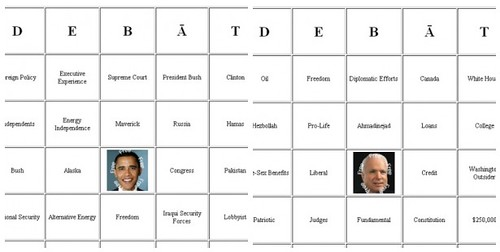 Debate Bingo Preview Cards