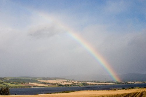 Big rainbow at Cromarty Firth