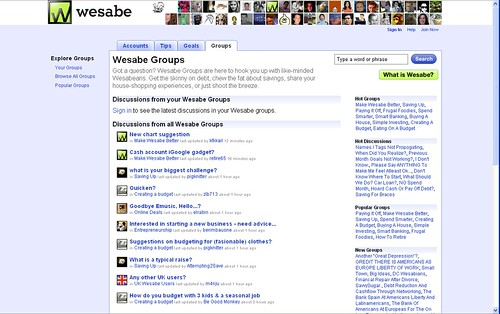 Wesabe groups