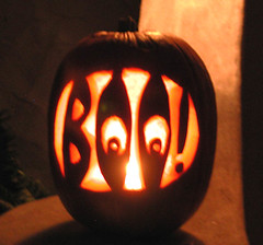 Boo pumpkin 2001 (nowhereonearth) Tags: autumn light orange holiday black fall halloween night word pumpkin fun carved scary eyes candle jackolantern vegetable carving illuminated boo squash janeauerbach pleasedonotreproducecopyorrepostphotographwithoutphotographerspermission